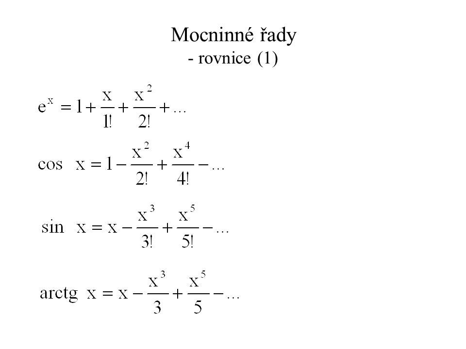 Mocninné řady - rovnice (2)