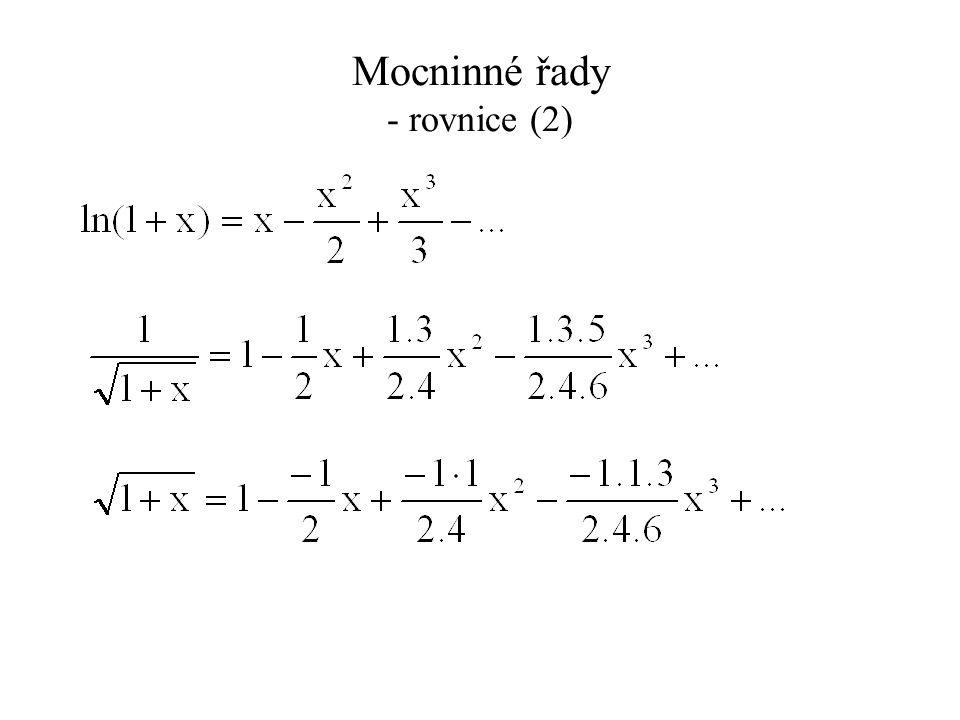 Nelineární úlohy (4) Problém převedeme na rekursivní tvar a iterativně hledáme řešení: t = x 2