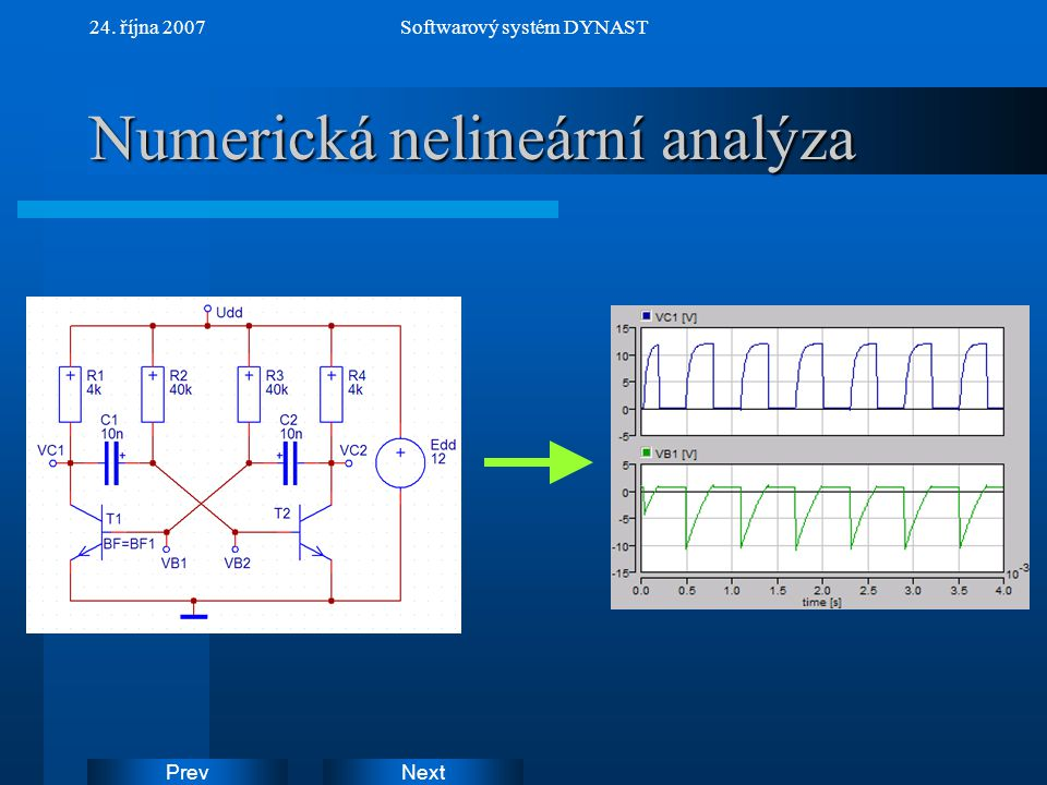 NextPrev 24. října 2007Softwarový systém DYNAST Numerická nelineární analýza