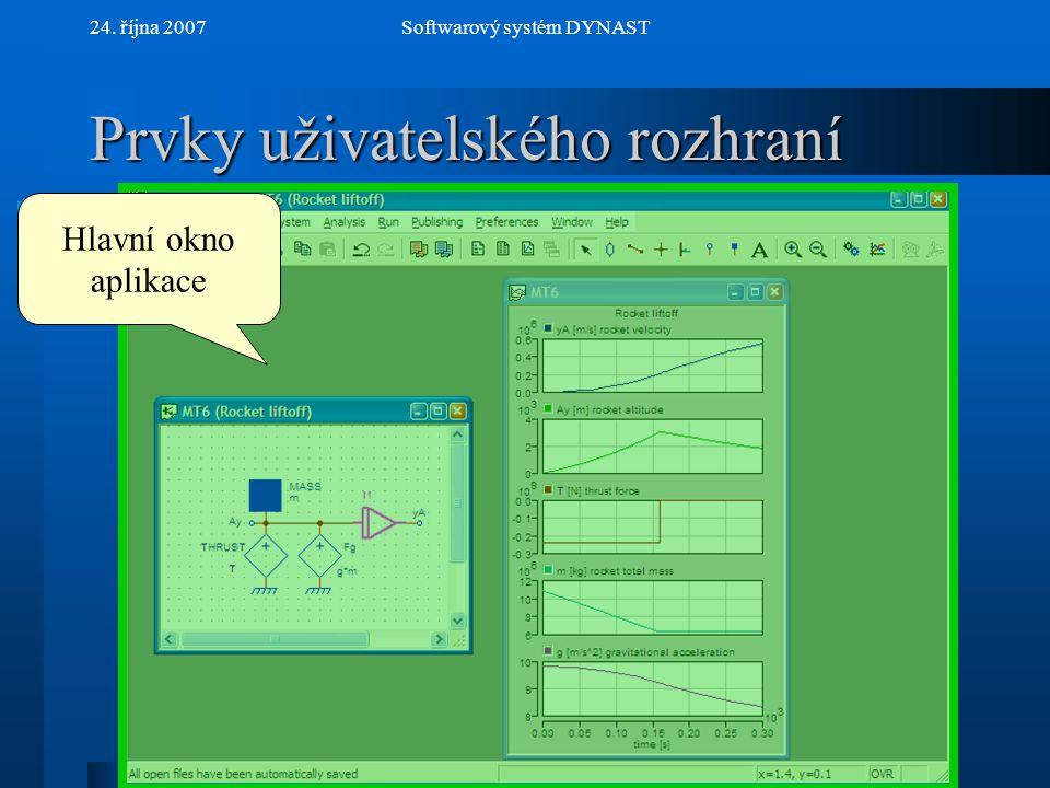 NextPrev 24. října 2007Softwarový systém DYNAST Vlastnosti submodelu