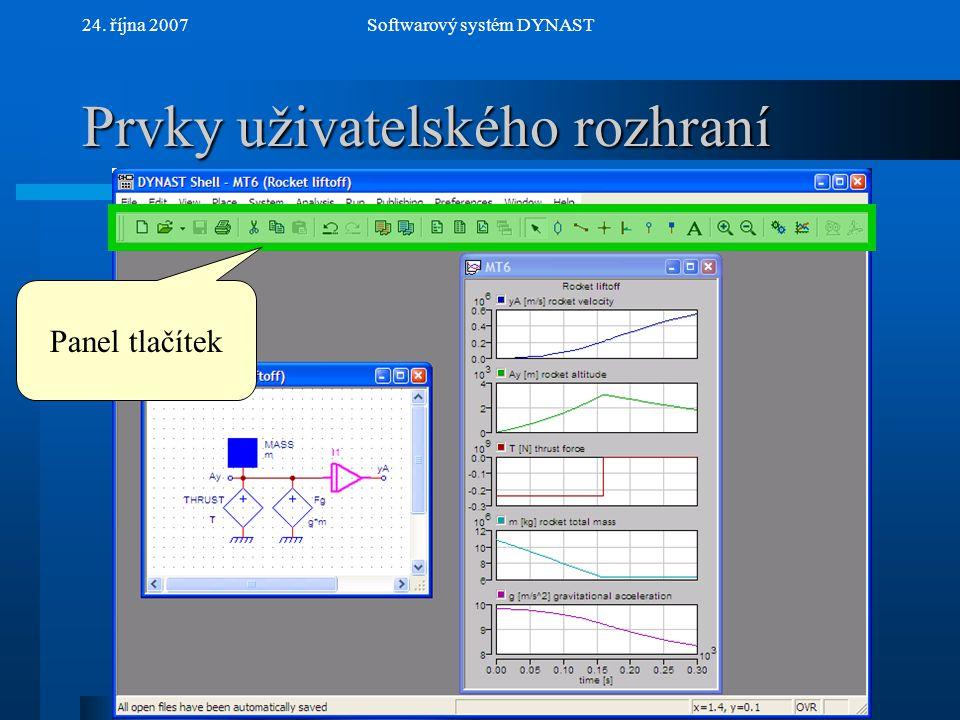 NextPrev 24. října 2007Softwarový systém DYNAST Spouštění simulátoru