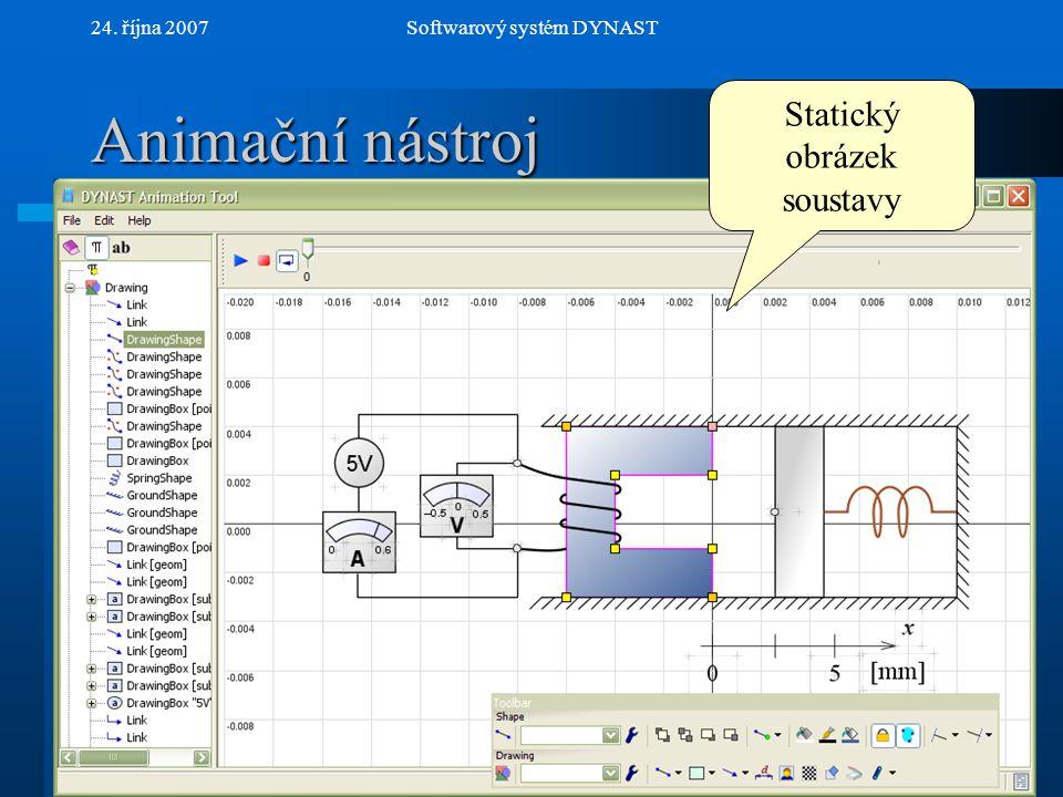 NextPrev 24. října 2007Softwarový systém DYNAST Animační nástroj Statický obrázek soustavy
