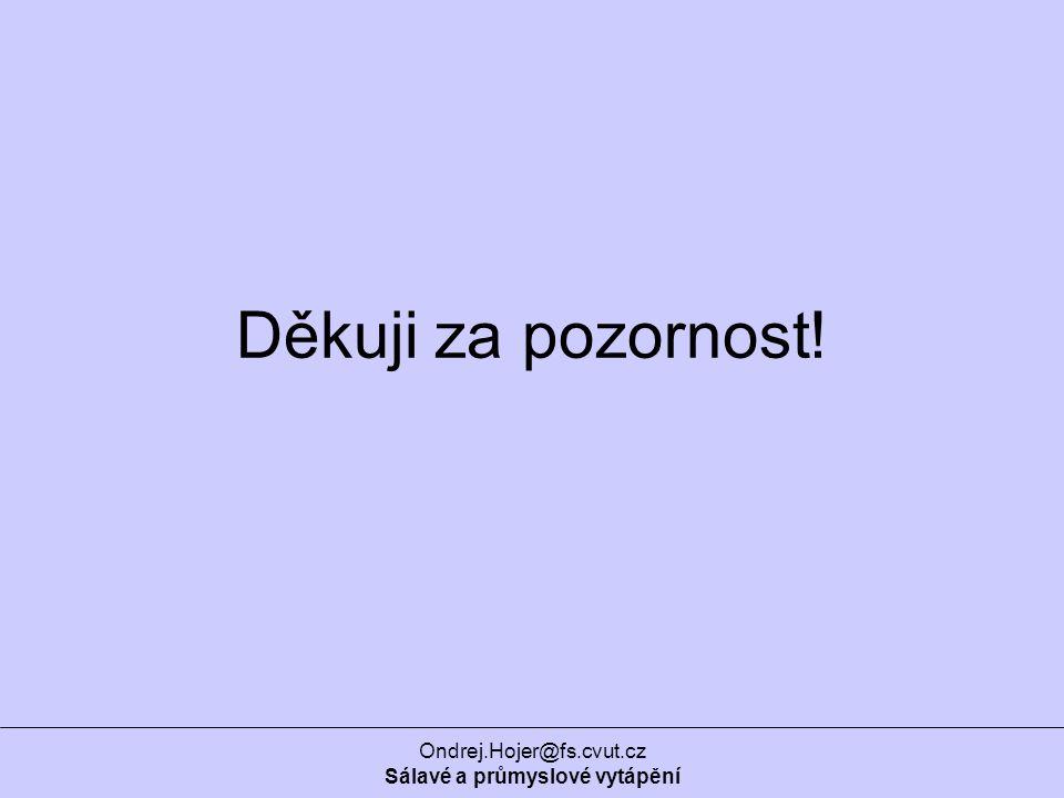 Ondrej.Hojer@fs.cvut.cz Sálavé a průmyslové vytápění Děkuji za pozornost!
