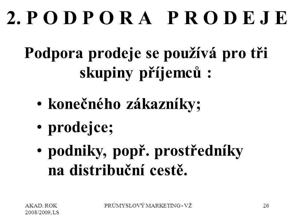 AKAD. ROK 2008/2009, LS PRŮMYSLOVÝ MARKETING - VŽ26 2.