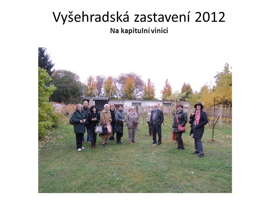 Vyšehradská zastavení 2012 Na kapitulní vinici