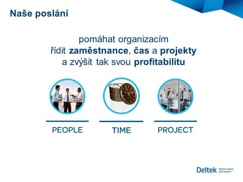 Naše poslání pomáhat organizacím řídit zaměstnance, čas a projekty a zvýšit tak svou profitabilitu