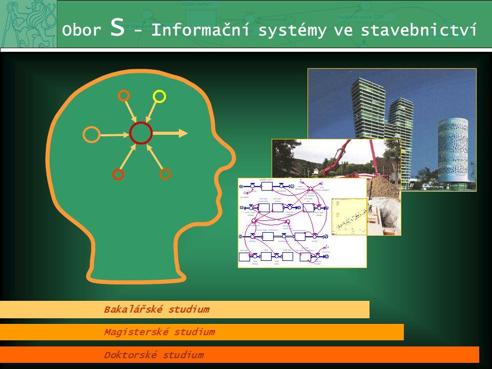 Obor S - I nformační systémy ve stavebnictví Informační systémy Ekonomika a řízení Z aměření oboru je kombinací těchto oblastí Systémové řešení problémů ČVUT Fakulta stavební S - Informační systémy ve stavebnictví