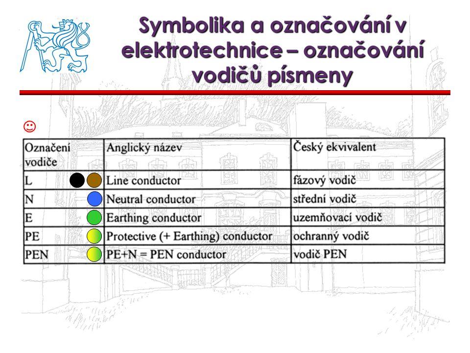 Symbolika a označování v elektrotechnice – označování vodičů písmeny