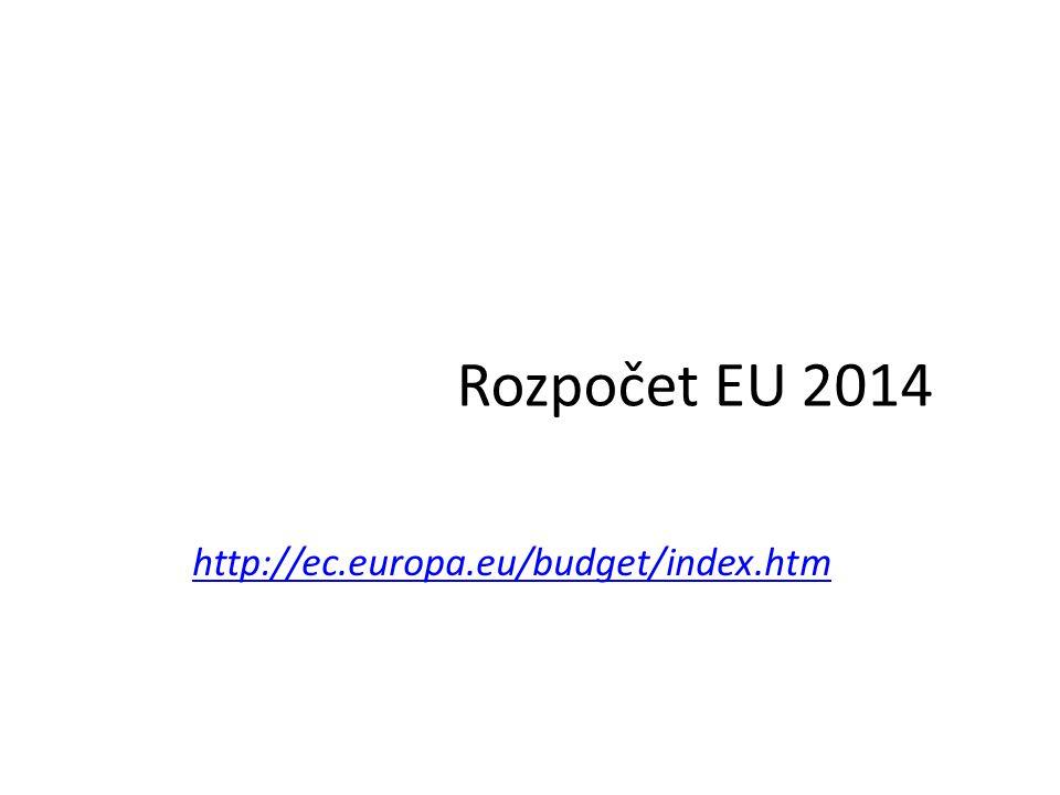 Rozpočet EU 2014 http://ec.europa.eu/budget/index.htm