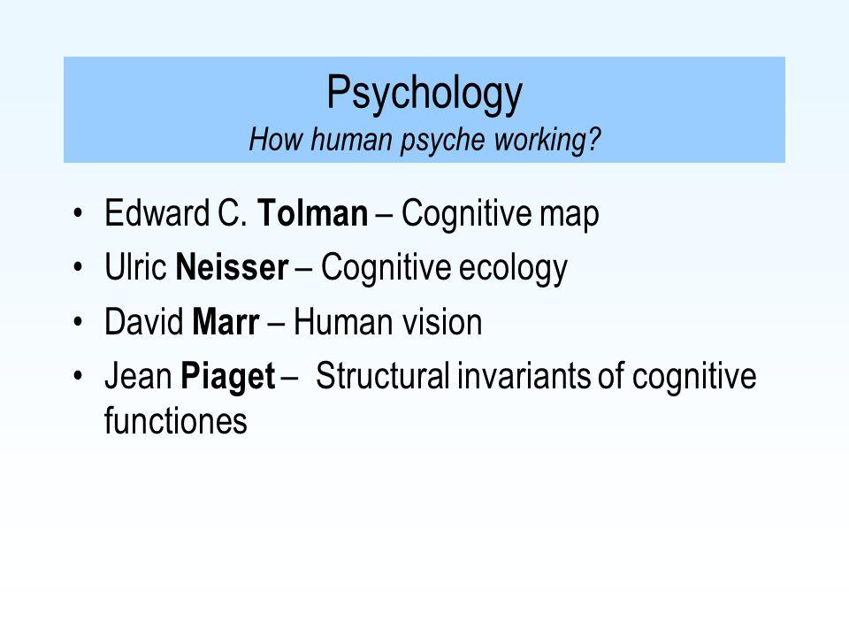 Edward C.Tolman – Cognitive map Multimodal mental representation –Not only propositional code.