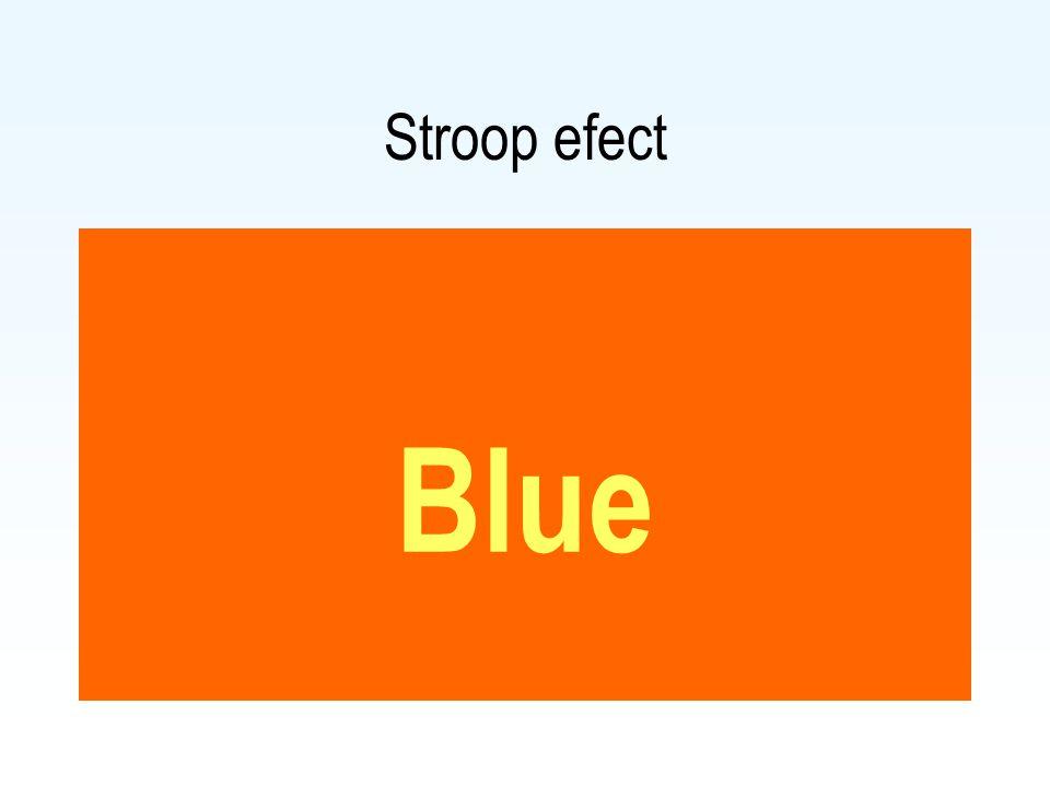 Stroop efect Blue