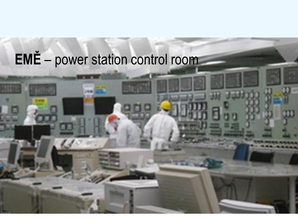 EMĚ – power station control room
