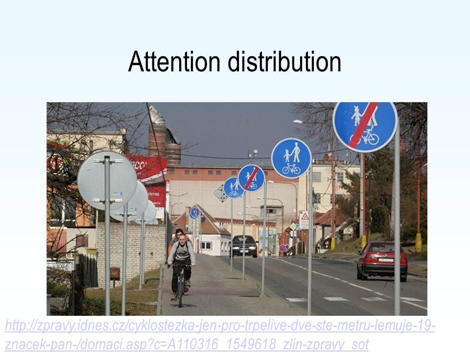 Attention distribution http://zpravy.idnes.cz/cyklostezka-jen-pro-trpelive-dve-ste-metru-lemuje-19- znacek-pan-/domaci.asp?c=A110316_1549618_zlin-zpravy_sot