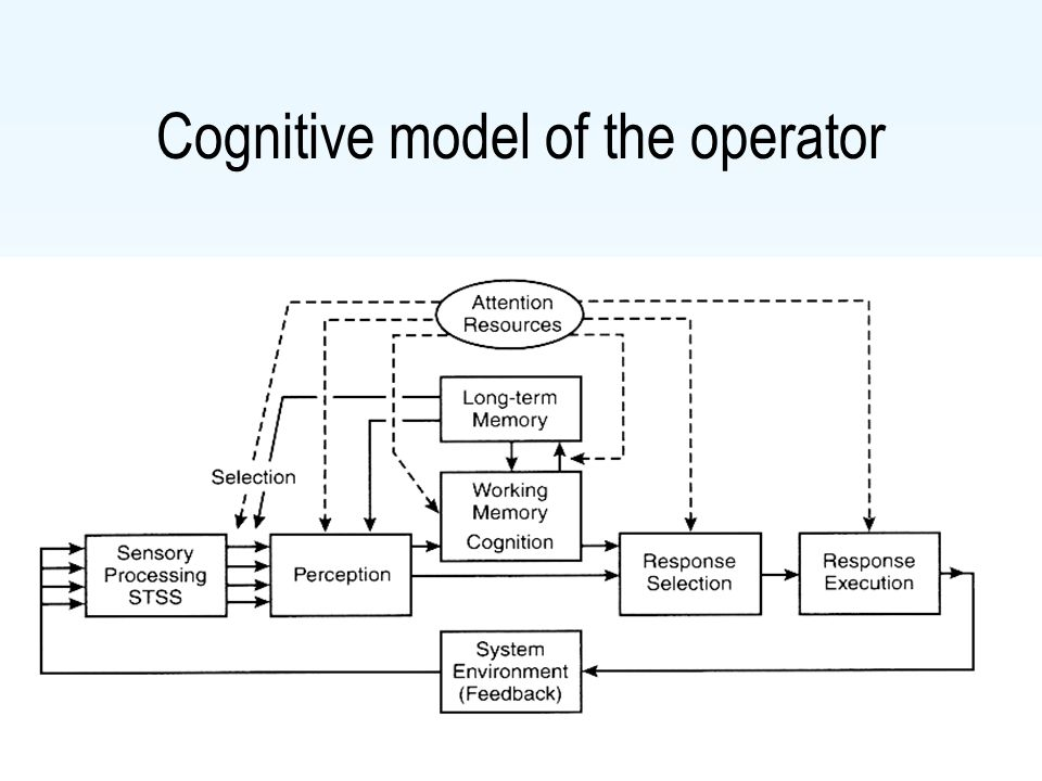 Cognitive model of the operator