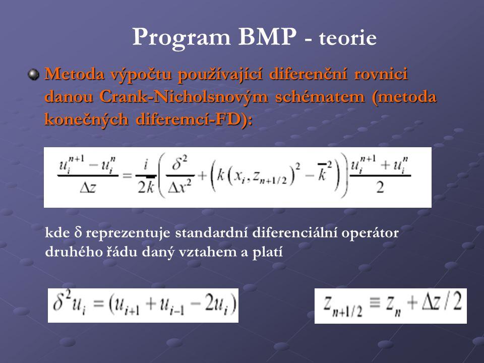 Metoda výpočtu používající diferenční rovnici danou Crank-Nicholsnovým schématem (metoda konečných diferemcí-FD): kde  reprezentuje standardní difer