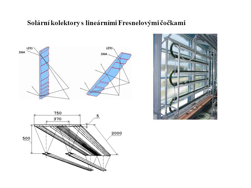 Solární kolektory s lineárními Fresnelovými čočkami