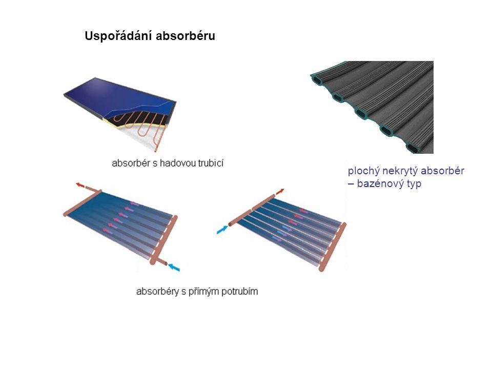 hmotnostní průtok teplonosné kapaliny c měrná tepelná kapacita teplonosné kapaliny T k1 teplota na vstupu do solárního kolektoru T k2 teplota na výstupu ze solárního kolektoru Tepelný výkon slunečního kolektoru