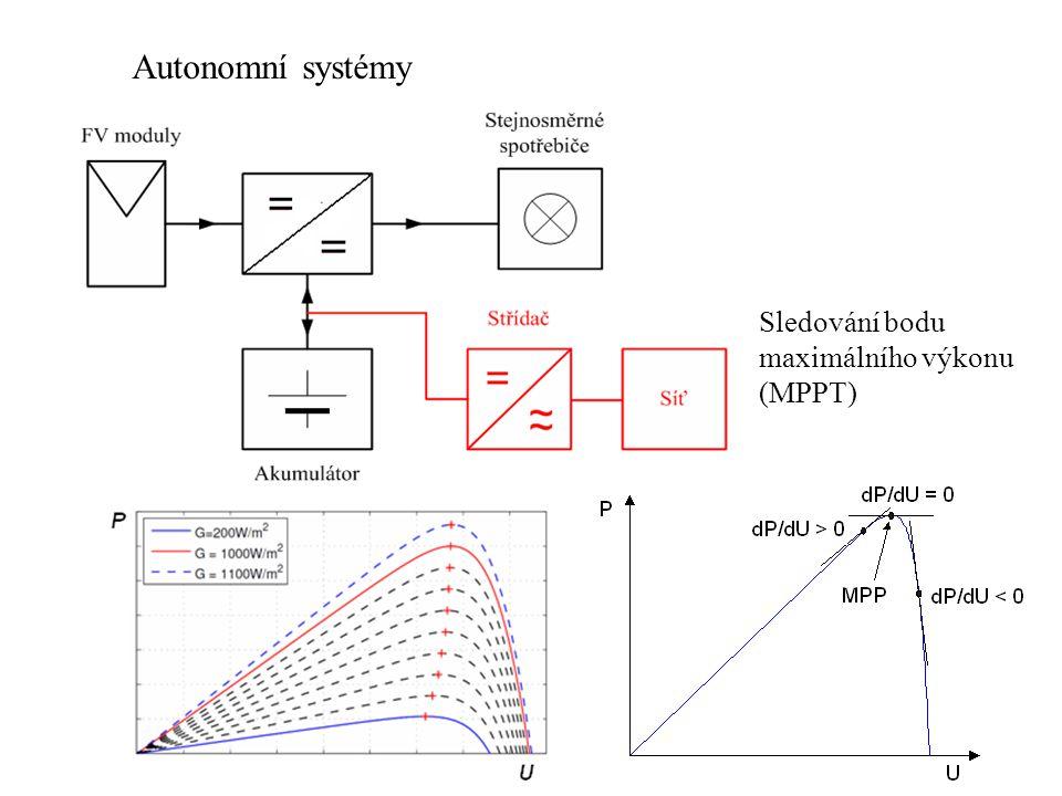 Sledování bodu maximálního výkonu (MPPT) Autonomní systémy