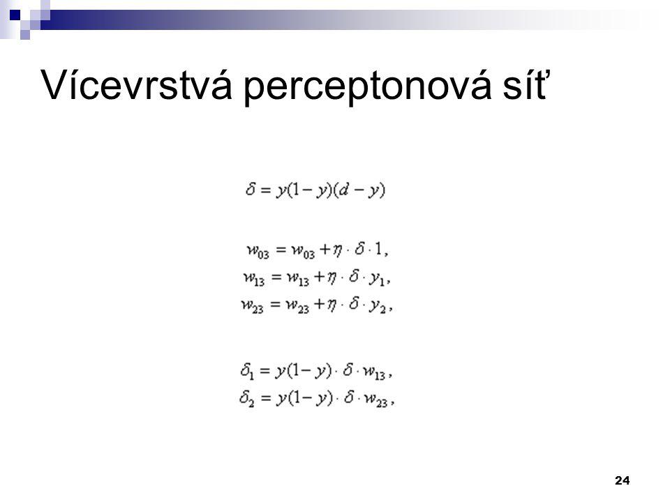 24 Vícevrstvá perceptonová síť