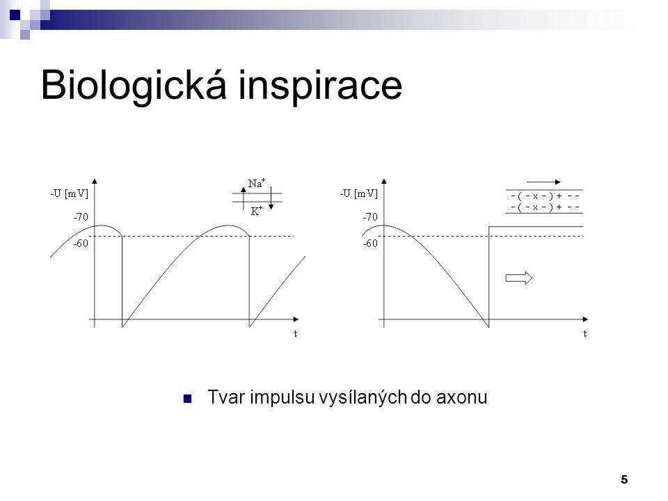 5 Tvar impulsu vysílaných do axonu
