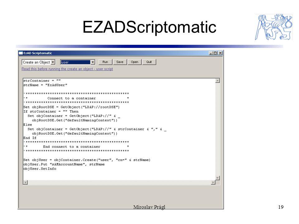 EZADScriptomatic 19 Miroslav Prágl
