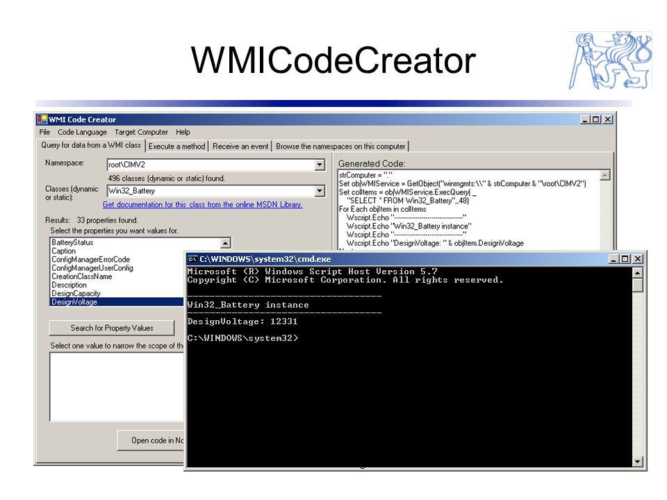 WMICodeCreator 22 Miroslav Prágl