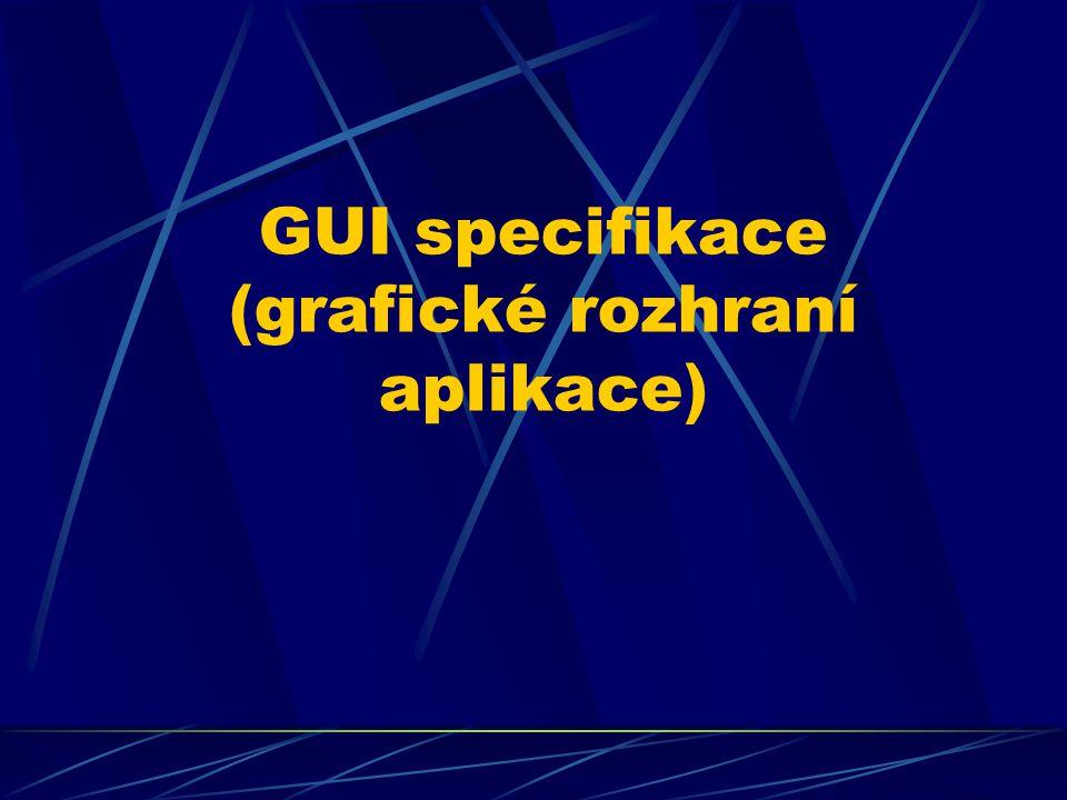 GUI specifikace (grafické rozhraní aplikace)