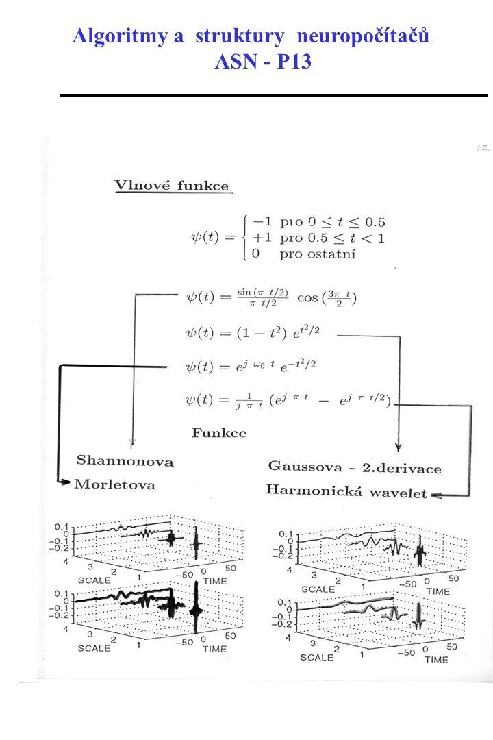 Algoritmy a struktury neuropočítačů ASN - P13