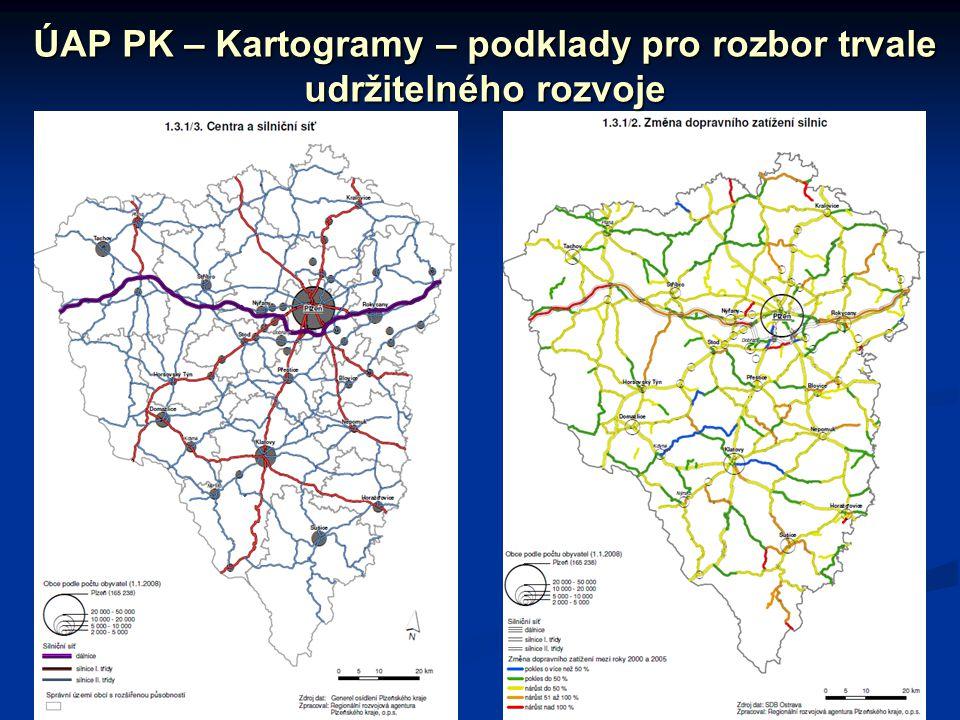 ÚAP PK – Kartogramy – podklady pro rozbor trvale udržitelného rozvoje
