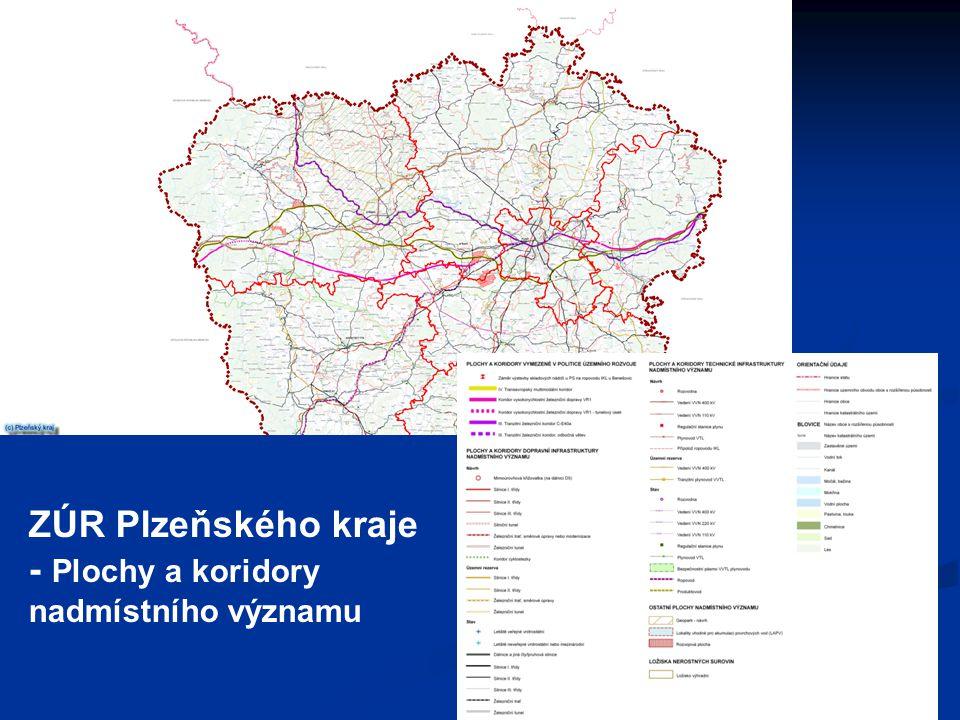 ZÚR Plzeňského kraje - Plochy a koridory nadmístního významu