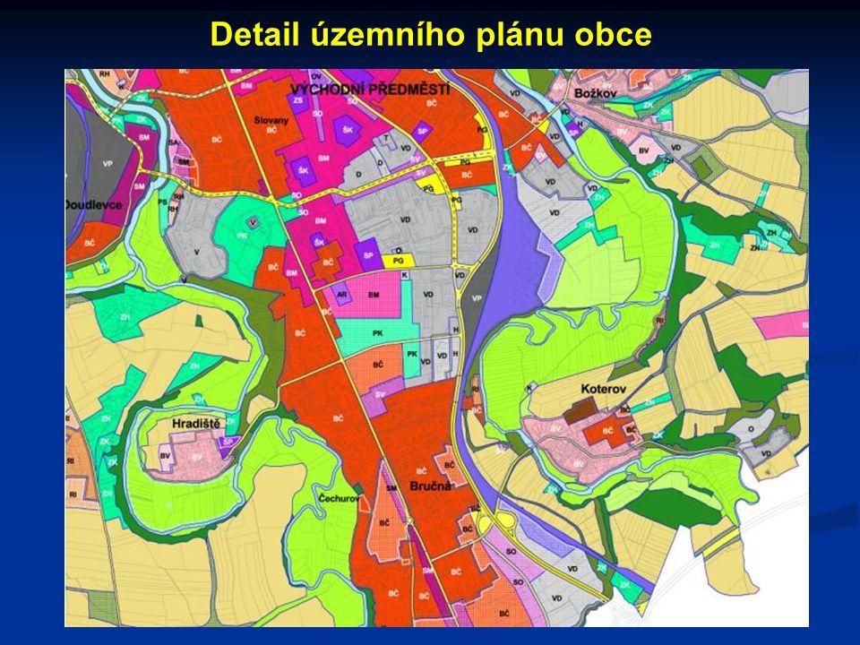 Detail územního plánu obce
