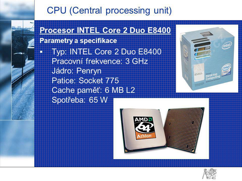 Chladič na CPU  Podporované procesory: Intel® Core 2 Extreme (Socket LGA775) Intel® Core 2 Quad (Socket LGA775) Intel® Core 2 Duo (Socket LGA775) Intel® Pentium D (Socket LGA775)  Ventilátor: Rozměry: 92 x 92 x 25 mm Otáčky: 600 až 1600 ot./min.