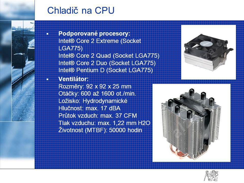 Operační paměť (RAM) Parametry a specifikace: Kapacita: 8 GB (2 x 4 GB) Typ: DDR2 Frekvence: 800 MHz
