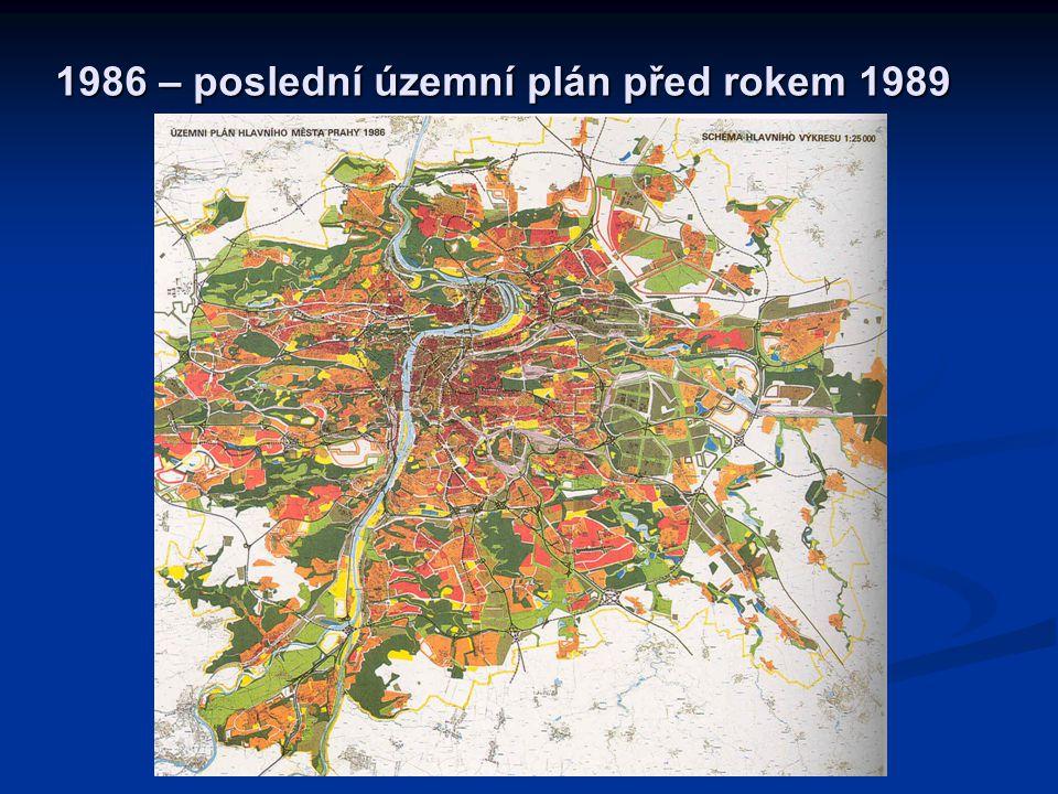 1986 – poslední územní plán před rokem 1989