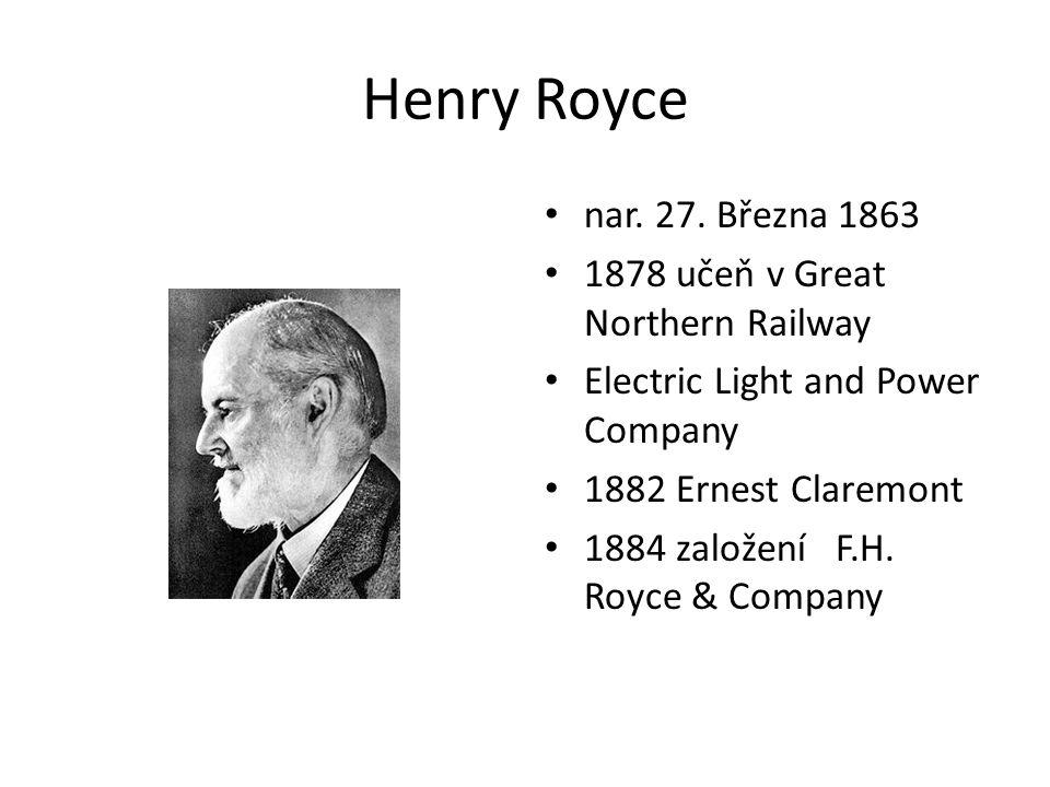 Henry Royce nar. 27.
