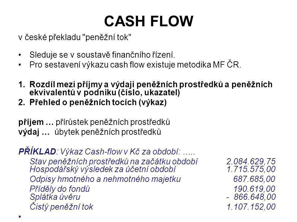 CASH FLOW v české překladu
