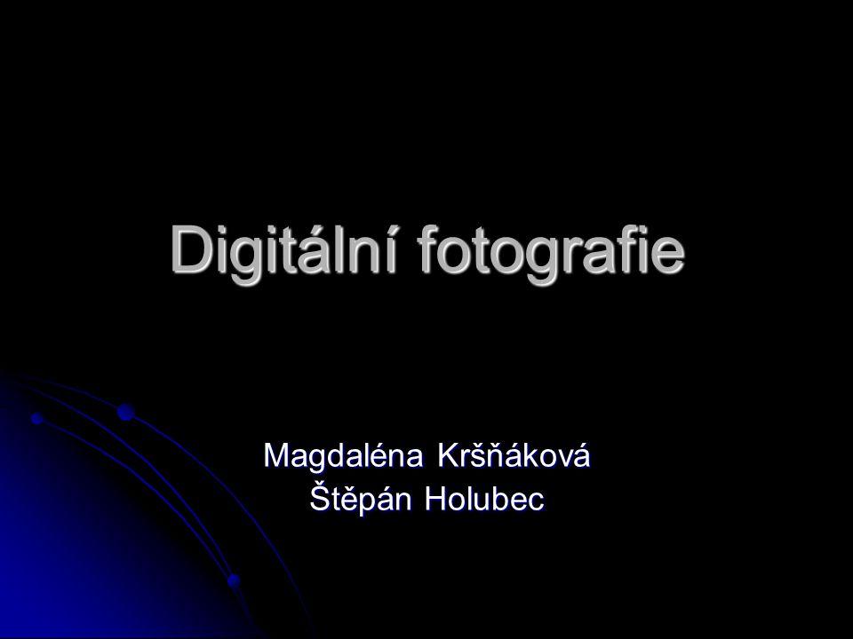 Digitální fotografie Magdaléna Kršňáková Štěpán Holubec