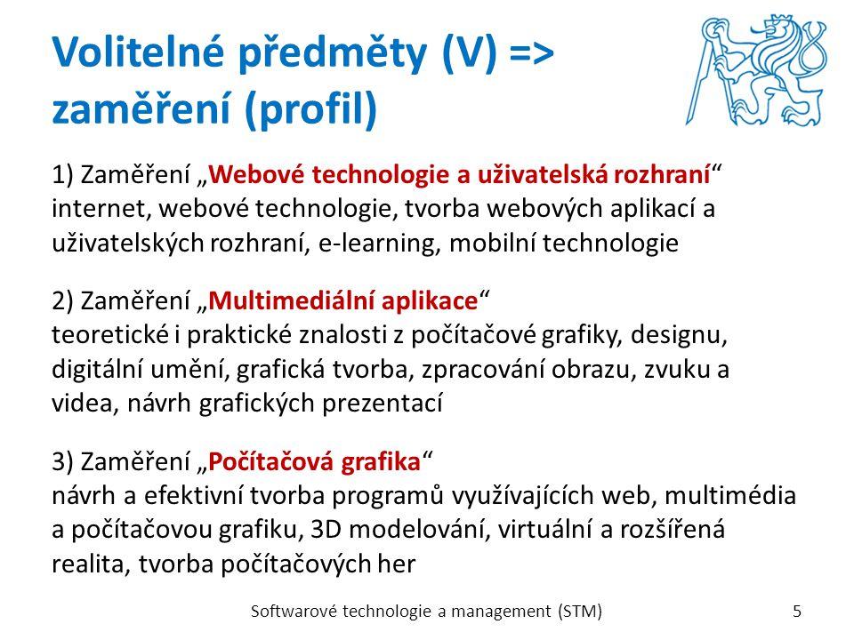 """1) Zaměření """"Webové technologie a uživatelská rozhraní"""" internet, webové technologie, tvorba webových aplikací a uživatelských rozhraní, e-learning, m"""