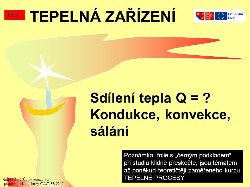 TEPELNÁ ZAŘÍZENÍ TZ3 Sdílení tepla Q = .