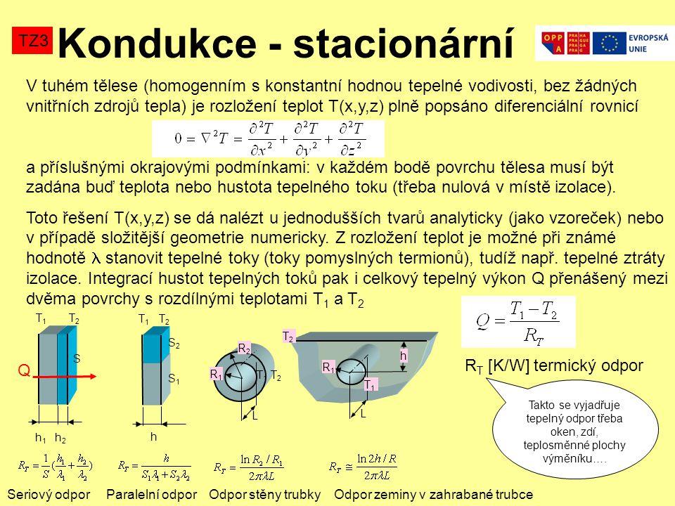 V tuhém tělese (homogenním s konstantní hodnou tepelné vodivosti, bez žádných vnitřních zdrojů tepla) je rozložení teplot T(x,y,z) plně popsáno diferenciální rovnicí a příslušnými okrajovými podmínkami: v každém bodě povrchu tělesa musí být zadána buď teplota nebo hustota tepelného toku (třeba nulová v místě izolace).