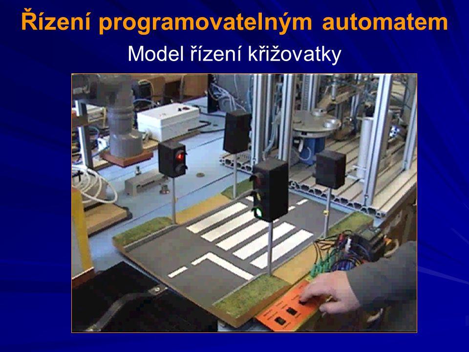 Řízení programovatelným automatem Model řízení křižovatky