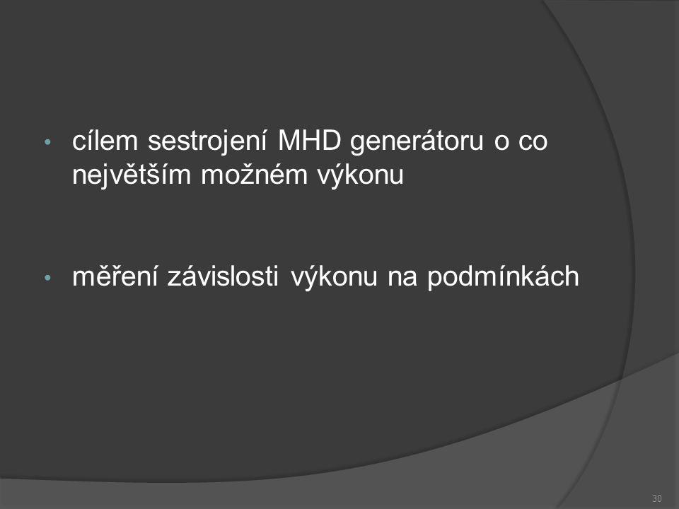 31 Obsah prezentace Úvod Princip Typy MHD generátorů Faradayův generátor s průběžnými elektrodami Faradayův generátor s článkovými elektrodami Hallův generátor Diskový generátor Využití MHD Experiment Konstrukce Měření Závěr
