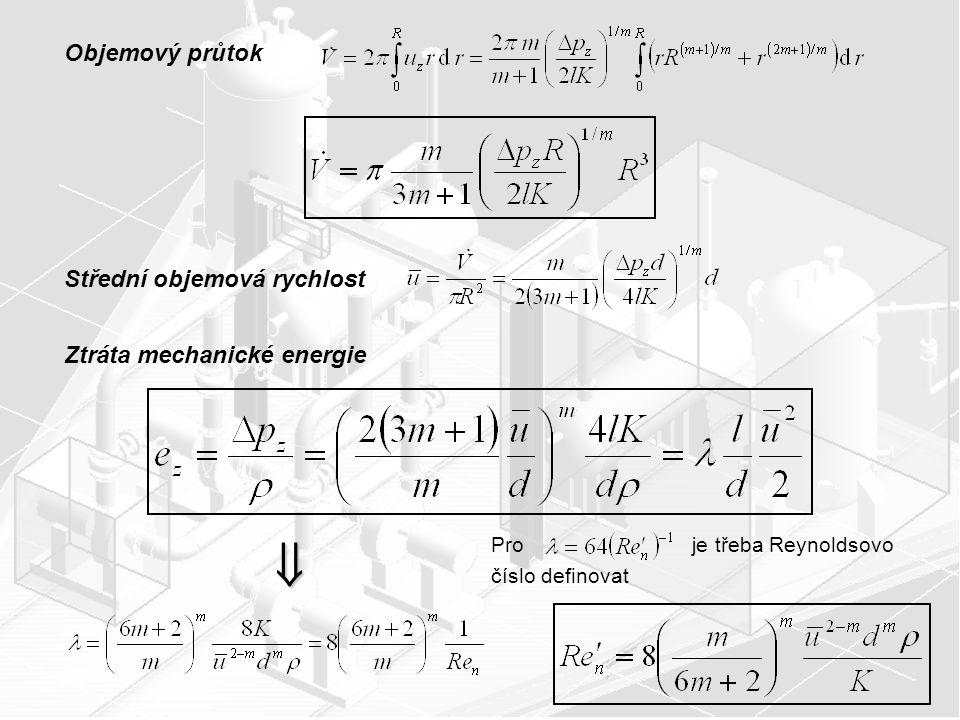 Závislost součinitele tření na Reynoldsově čísle Re n ´ a indexu toku m pro mocninové kapaliny .