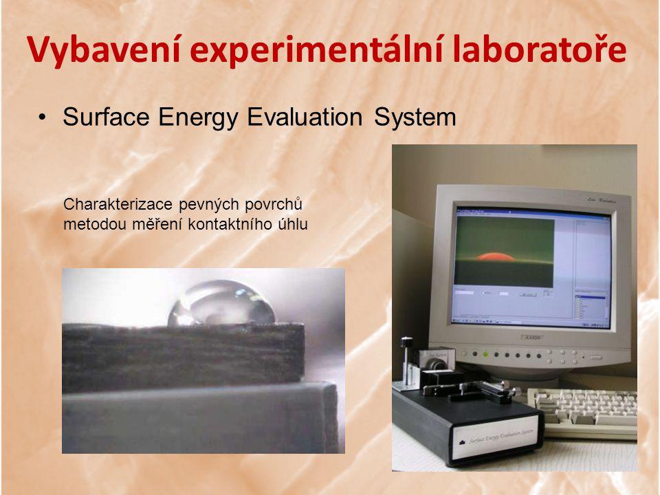 Vybavení experimentální laboratoře Surface Energy Evaluation System Charakterizace pevných povrchů metodou měření kontaktního úhlu