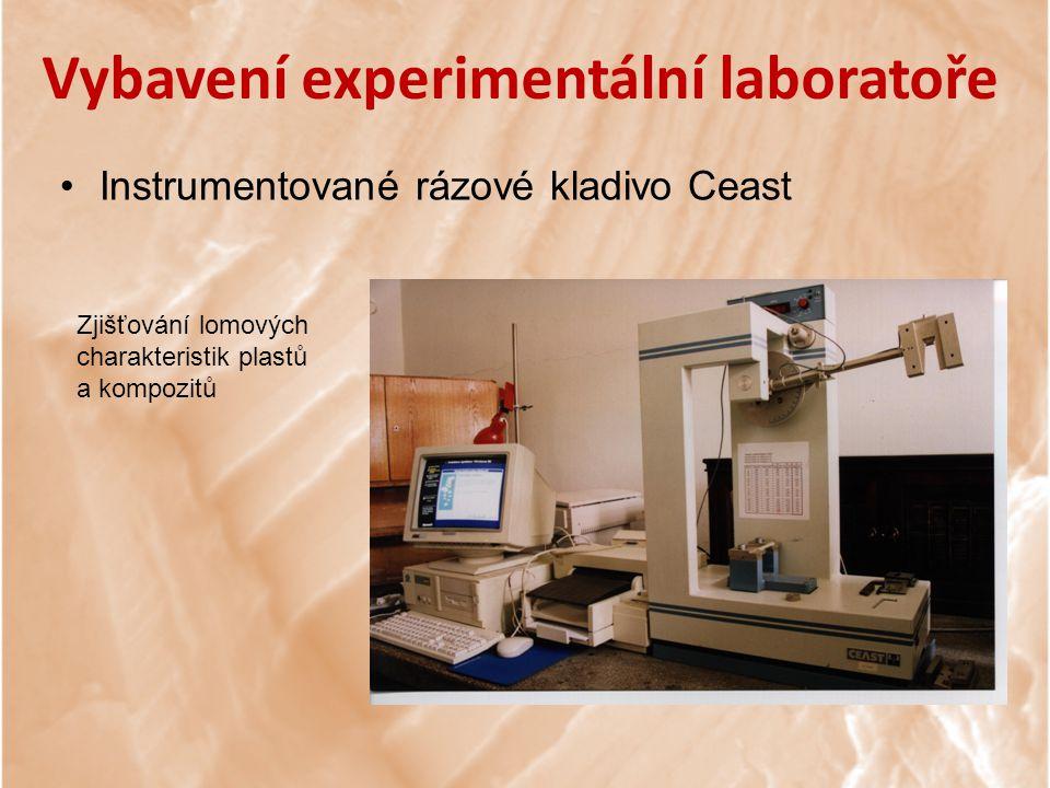 Vybavení experimentální laboratoře Instrumentované rázové kladivo Ceast Zjišťování lomových charakteristik plastů a kompozitů
