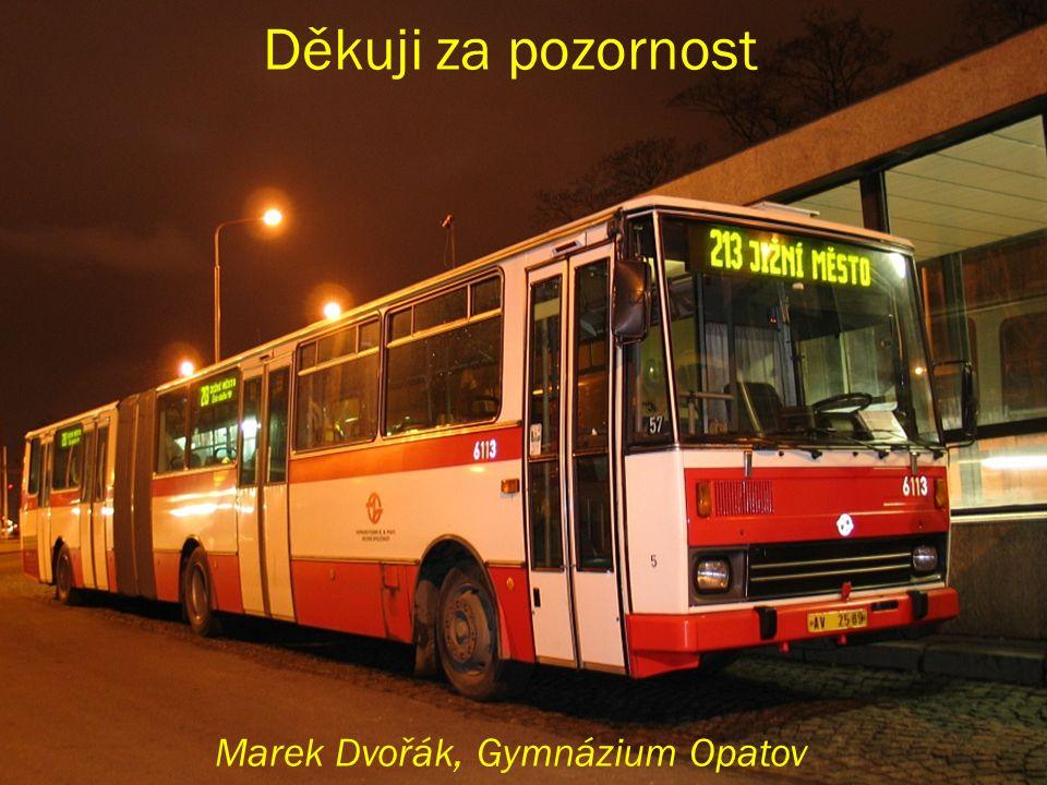 Děkuji za pozornost Marek Dvořák, Gymnázium Opatov