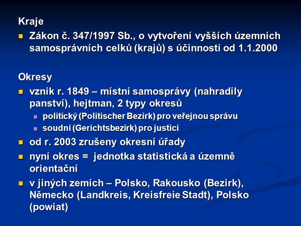 Kraje Zákon č.