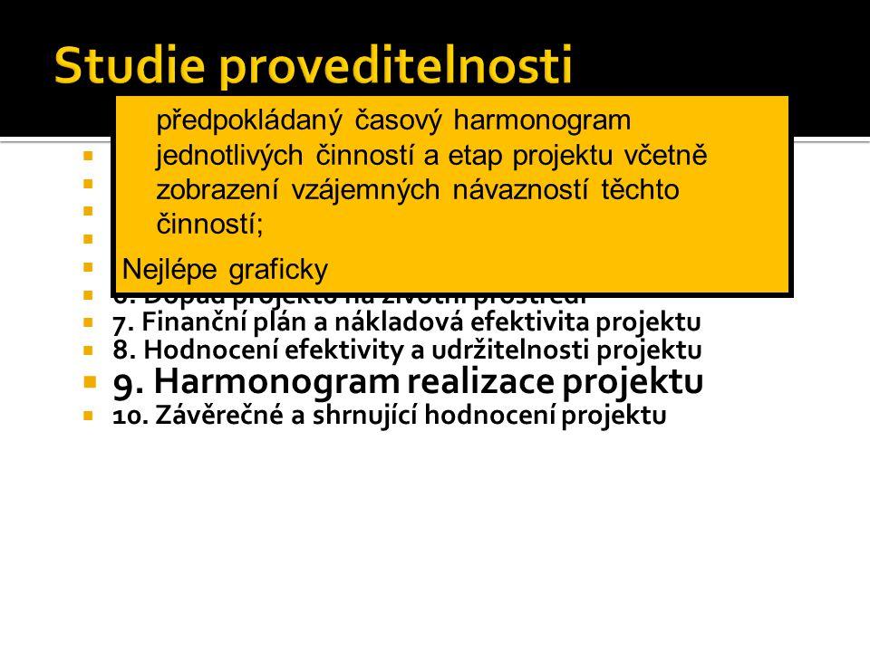  1. Obsah  2. Úvodní informace  3. Stručný popis podstaty projektu a jeho etap  4. Management projektu a řízení lidských zdrojů  5. Technické a t