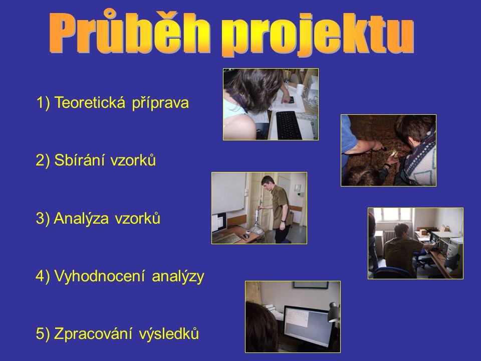 1) Teoretická příprava 2) Sbírání vzorků 3) Analýza vzorků 4) Vyhodnocení analýzy 5) Zpracování výsledků