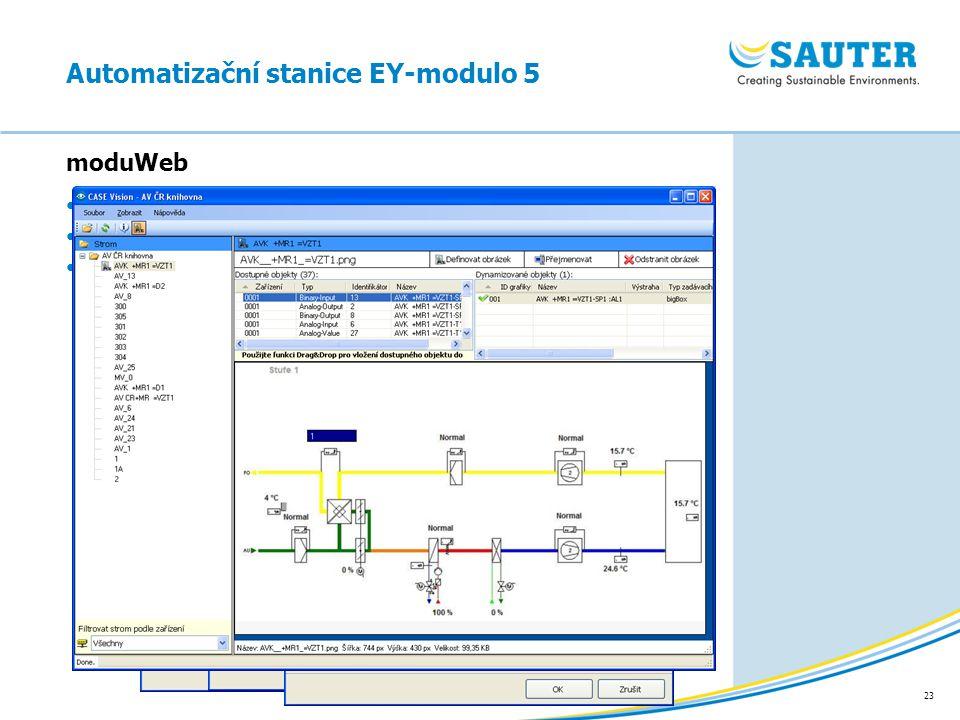 23 moduWeb Automatizační stanice EY-modulo 5 Generování obrázků v CASE Vision Export z CASE Builderu (PNG, 780 x 430) Rozdělení adres (ObjectName,stru